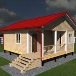 Одноэтажный дом 8 на 6 с террасой