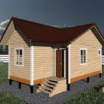 Дом 6 на 8 одноэтажный проект