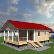 Одноэтажный дом из бруса 10 на 6