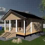 Дом 6 на 8 одноэтажный проект из бруса