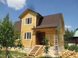 Проект дома 9х7 с мансардой