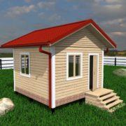 Дом из бруса 4 на 4 одноэтажный