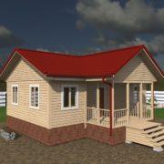 Планировка дома 8 на 9 одноэтажный