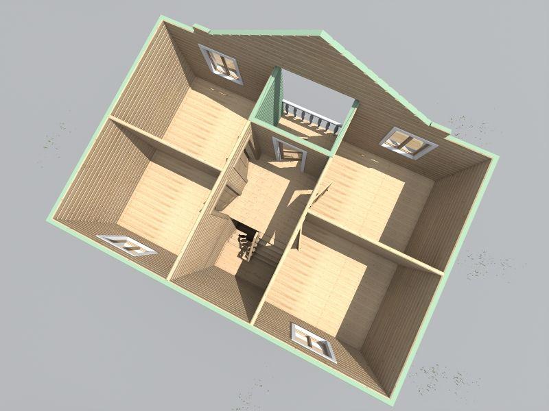 проект дома 7 на 9 двухэтажный