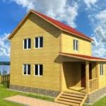 дачный дом 6 на 8 двухэтажный проект