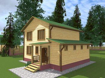 Дом 9х8 двухэтажный