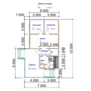 план дома 7 на 12 одноэтажный