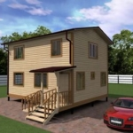 проект дома 6х9 двухэтажный
