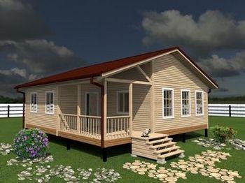 Проект одноэтажного дома 9 на 9