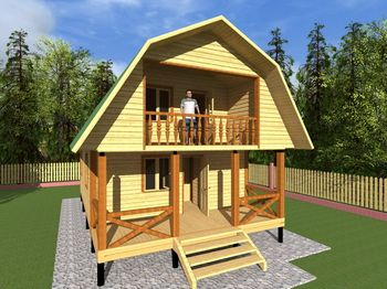проект дома 6 на 10 с мансардой