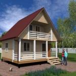 проект дома 60 кв м с мансардой