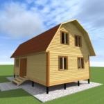 проект дома 6х10 с мансардой
