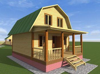 проект дома 6х8 с мансардой