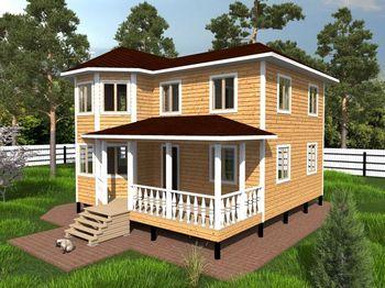 проект дома 8 на 8 двухэтажный фото