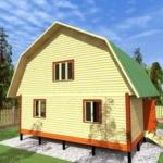 дом 8 на 8 проект с мансардой