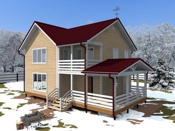 проект дома 9х8 двухэтажный