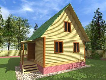 проект дома из бруса 6х9 с мансардой