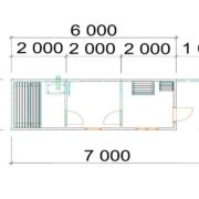 мобильная баня 7х2 м
