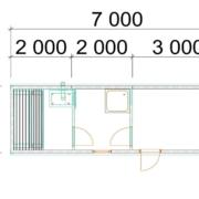 мобильная баня 7х2 м вагон