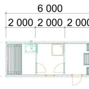 Мобильная баня 6х2 м
