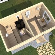 мобильная баня 4х2 м