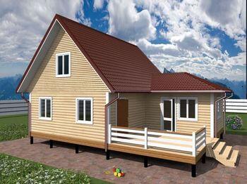 проект дома 10х8 с мансардой