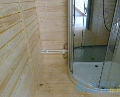 Установка душевой кабины деревянном доме