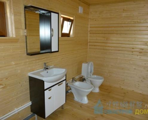 Установка умывальника деревянном доме