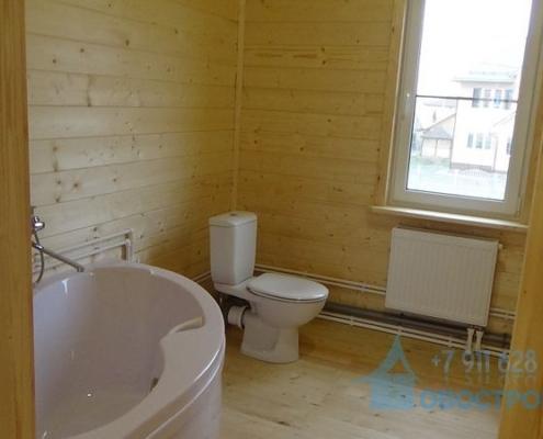 Установка ванной деревянном доме