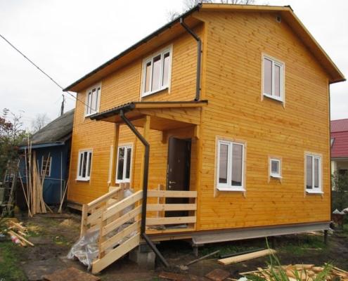 двух этажный дом 6 на 9 красное село