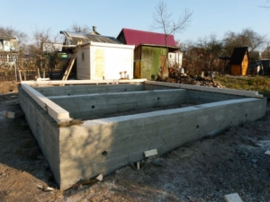 ленточный фундамент под деревянный дом