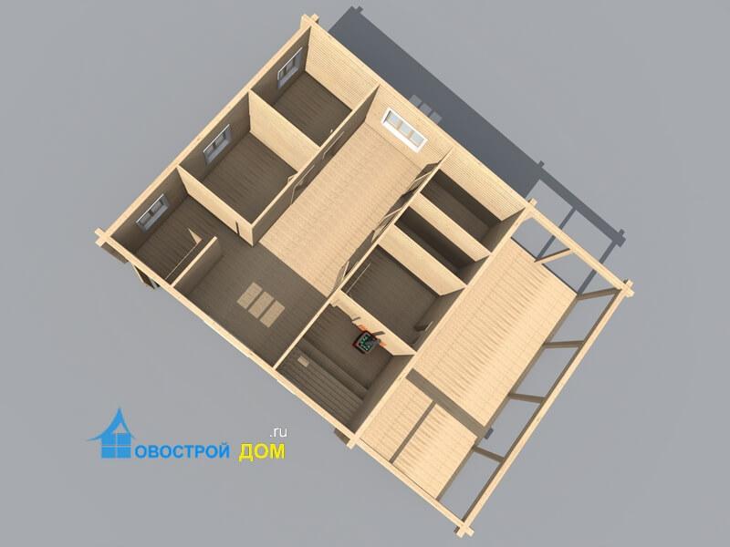 одноэтажная баня 13х9
