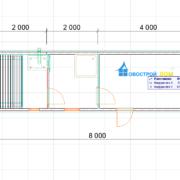 Перевозная баня 2 на 8 метров