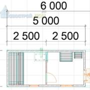 Перевозная баня 2на5 м