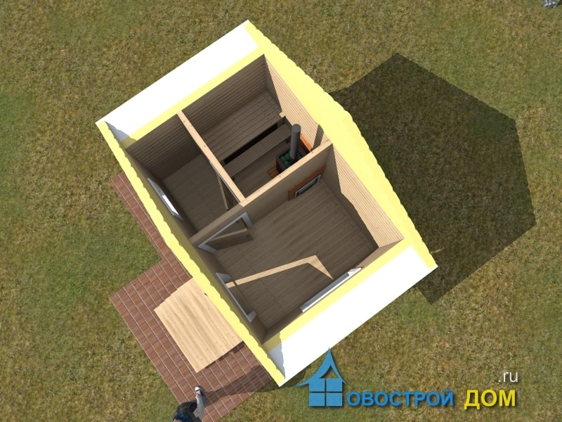 баня 3 на 4 вид с верху