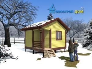 проект бани 4х4 с террасой